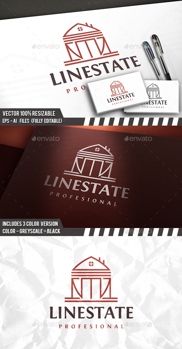 Real Estate Line Logo - Buildings Logo Templates