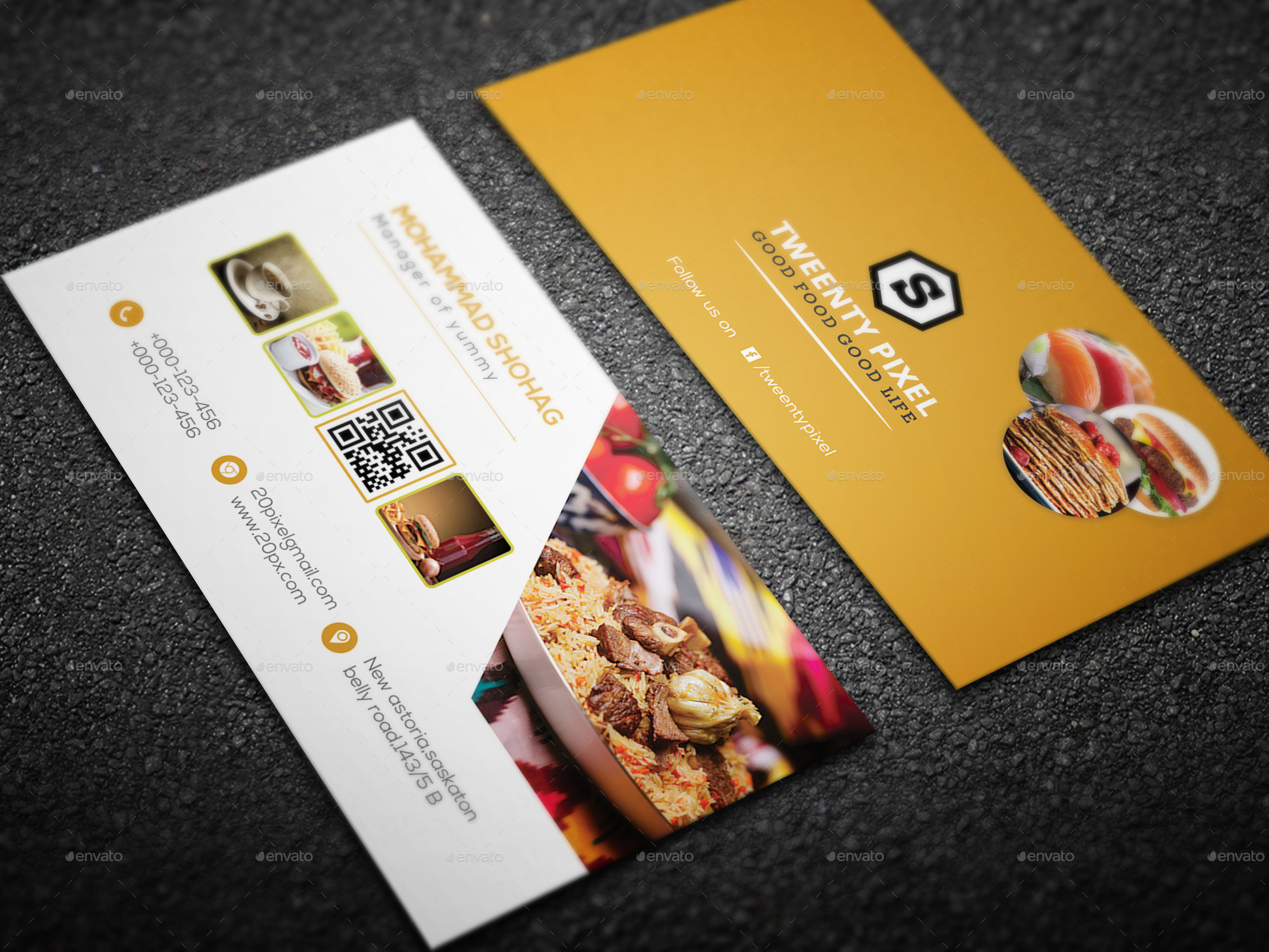 restaurant business card by shohag4y