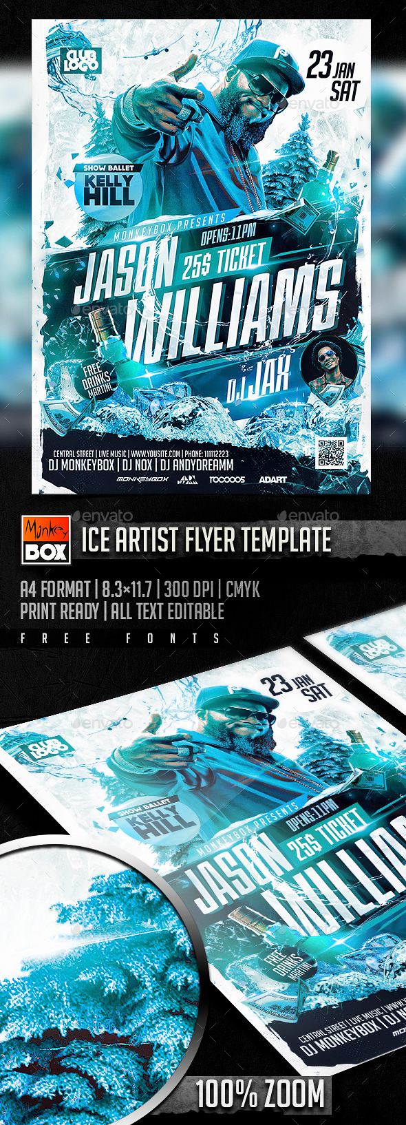 Ice Artist Flyer Template - Flyers Print Templates