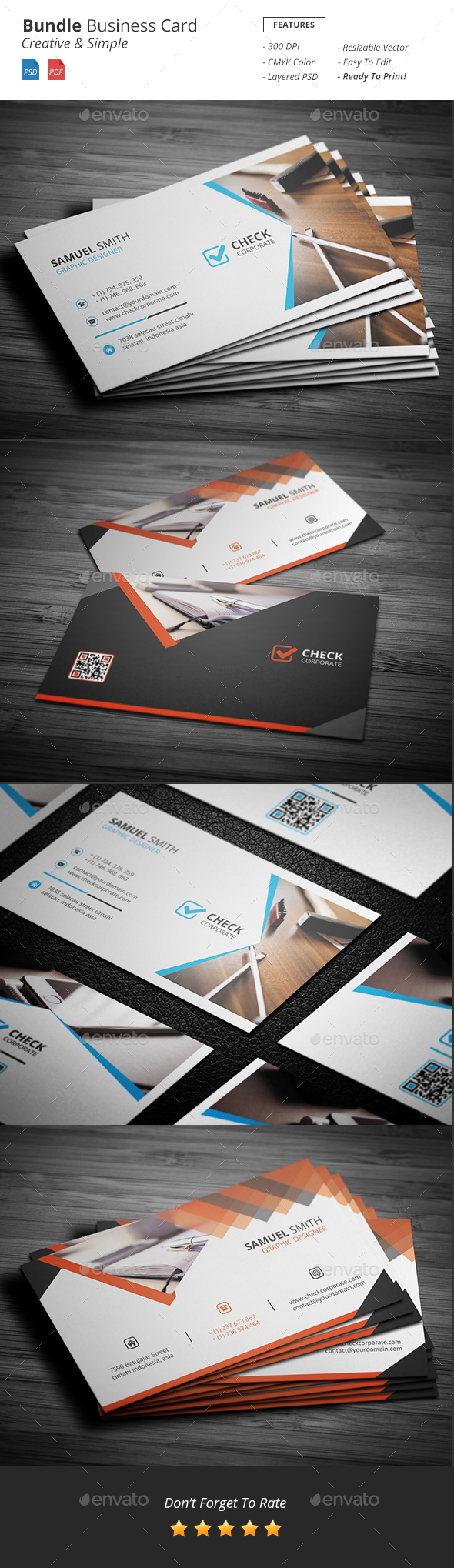 Bundle Business Card - Corporate Business Cards