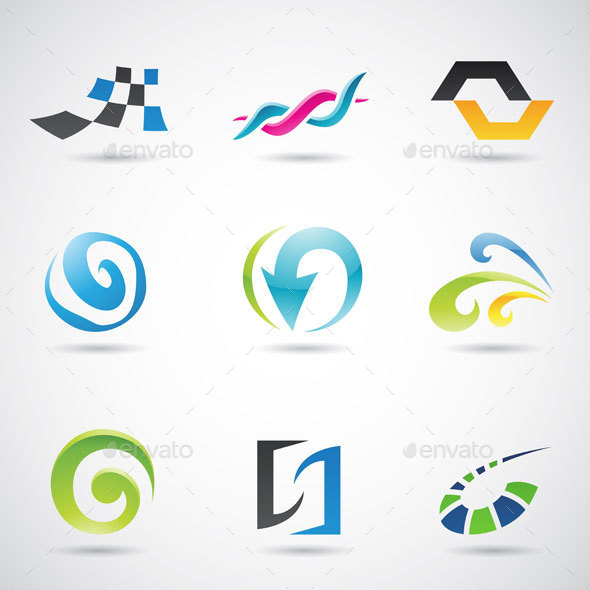 Colorful Abstract Shapes - Abstract Icons