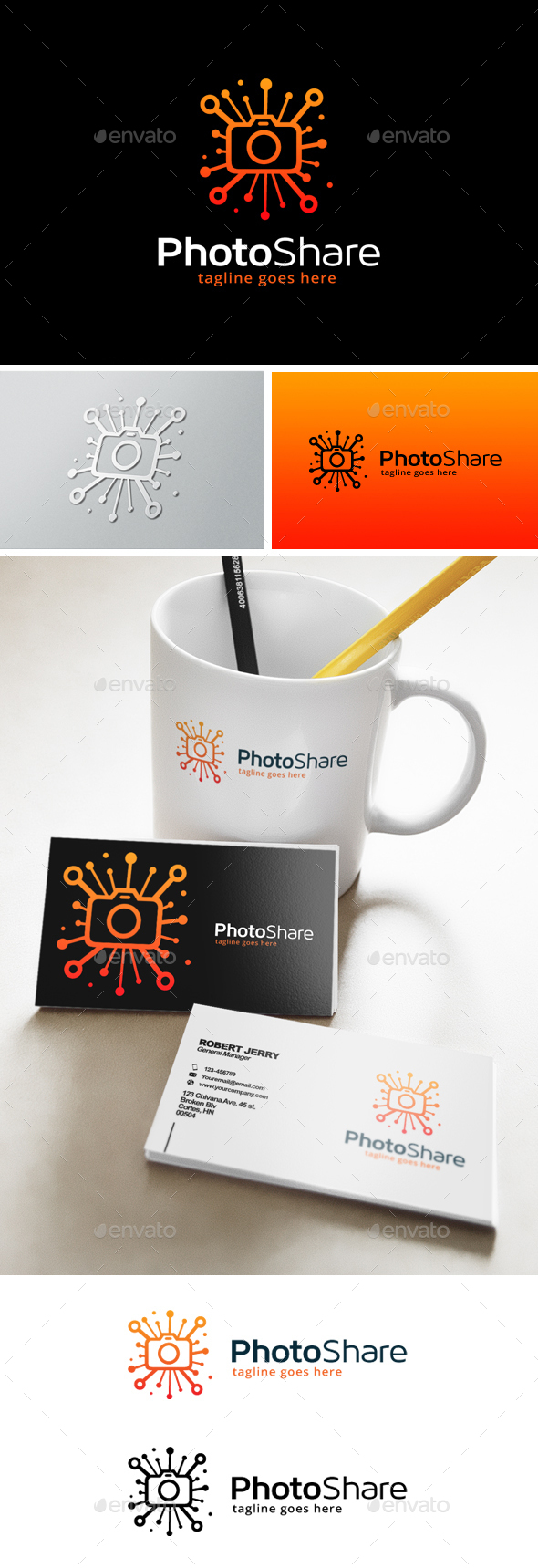 Photo Share Logo - Objects Logo Templates