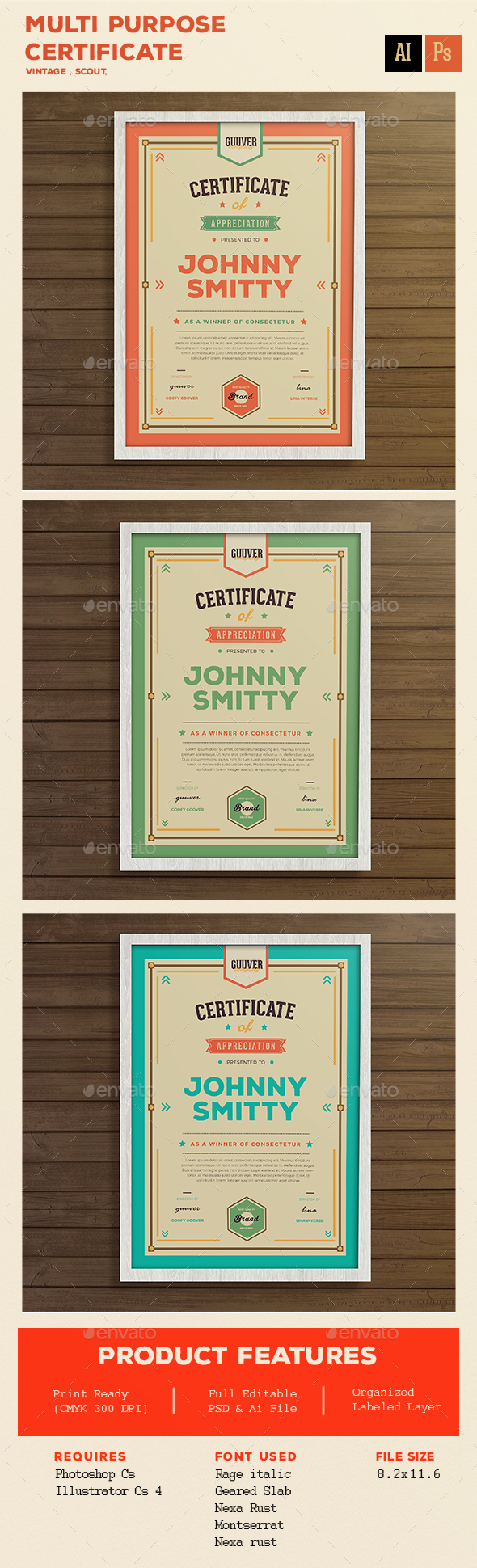 Multi purpose certificate - Certificates Stationery