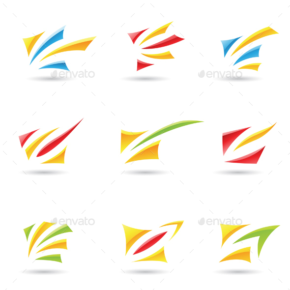 Abstract Glossy Shapes - Abstract Icons