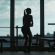 The Silhouette Of The Attractive Woman Poses - VideoHive Item for Sale