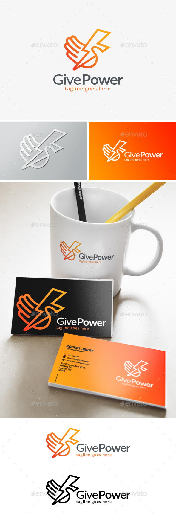 Give Power Logo - Objects Logo Templates