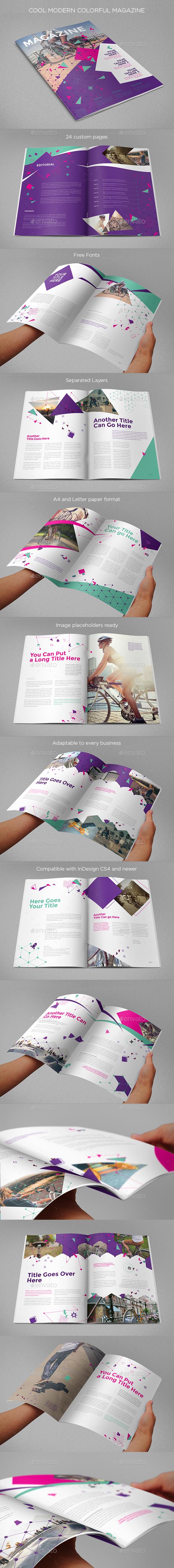 Cool Modern Colorful Magazine - Magazines Print Templates