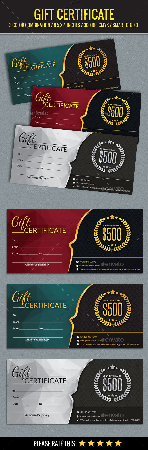 Gift Certificate Template - Certificates Stationery