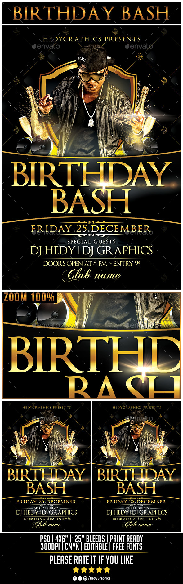 Birthday Bash - Flyer Template - Events Flyers