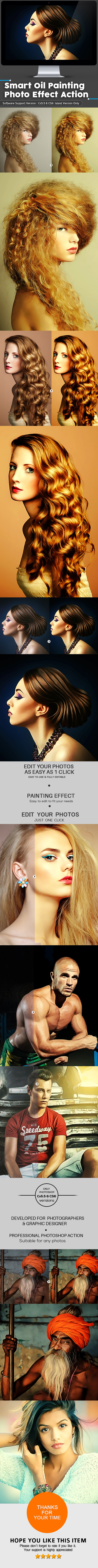 Smart Oil Painting  Photo Effect Action - Photo Effects Actions