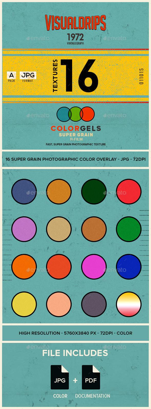 R-Film ColorGels - SUPERGRAIN - Paper Textures