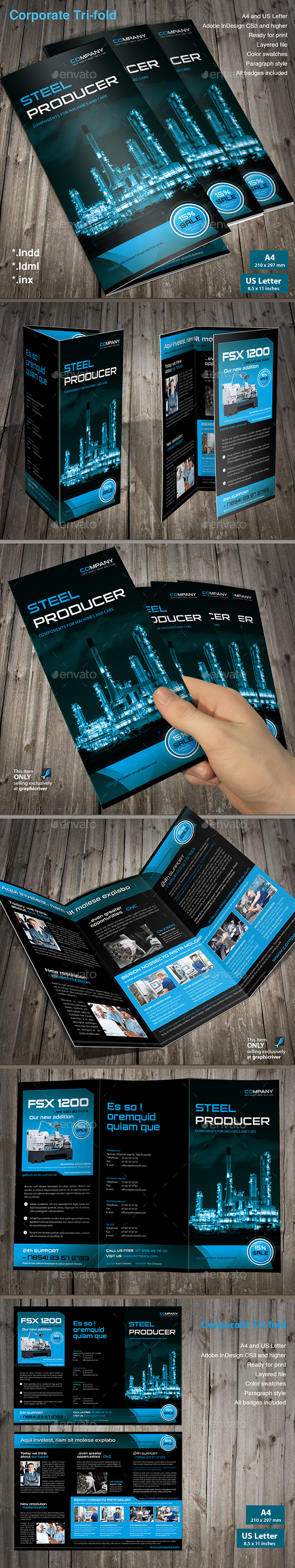Tri-fold Products Offer - Corporate Brochures