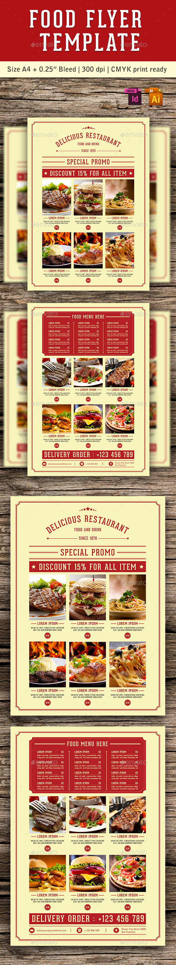 Food Flyer Template Vol. 5 - Restaurant Flyers