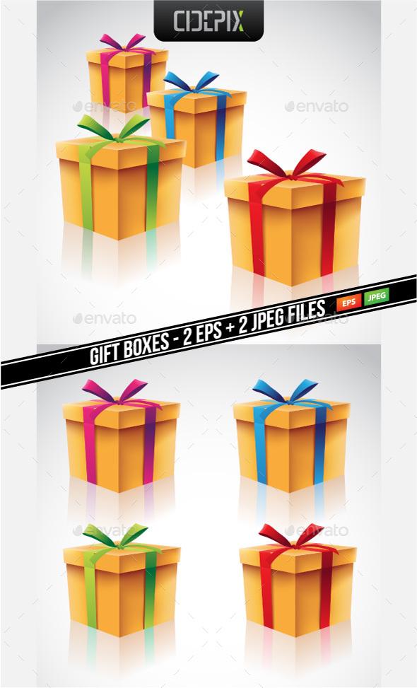 Gift Boxes Set - Miscellaneous Vectors