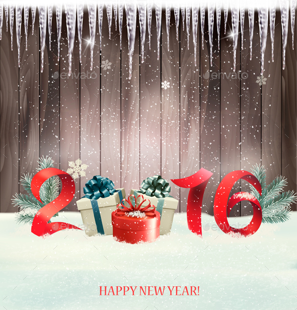 Happy New Year Background with 2016 - New Year Seasons/Holidays