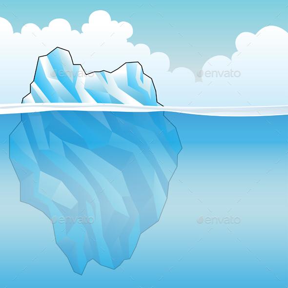 Blue Iceberg - Landscapes Nature