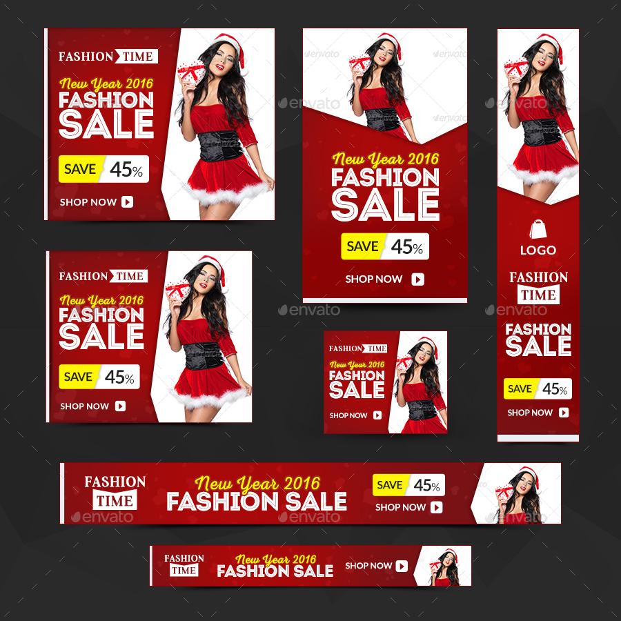 New Year Sale Banners by doto | GraphicRiver
