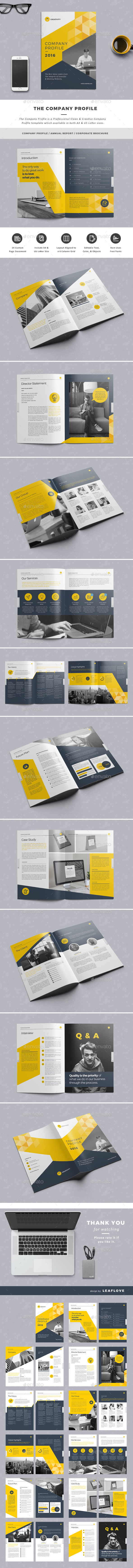 The company profile by leaflove graphicriver the company profile corporate brochures pronofoot35fo Gallery