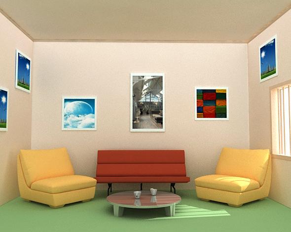 Rest Room Interior - 3DOcean Item for Sale