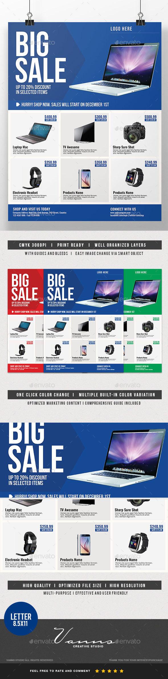 Big Sale Multipurpose Flyer - Commerce Flyers