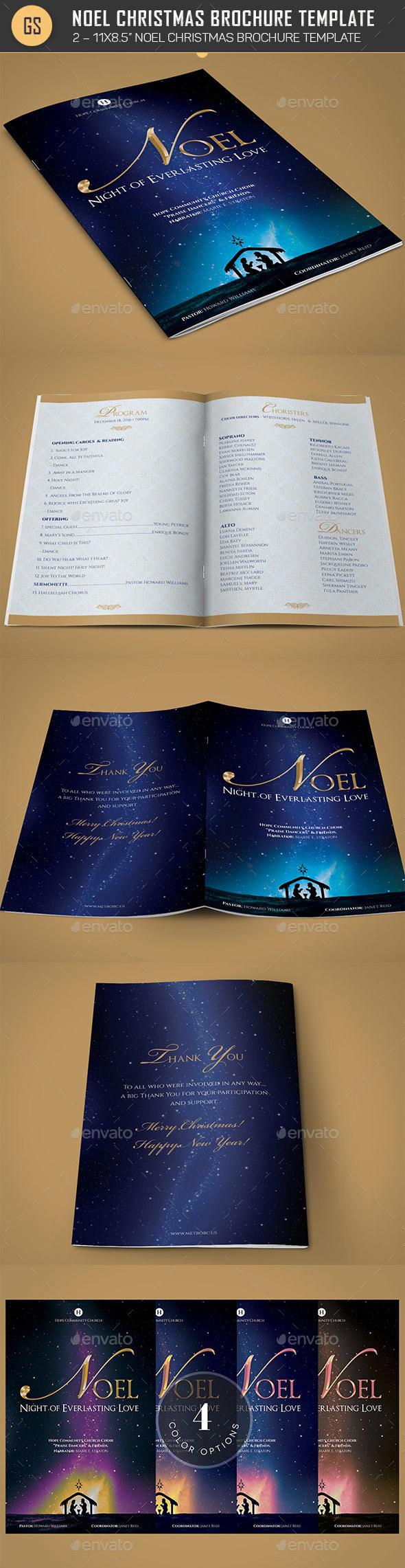 Noel Christmas Brochure Template by Godserv2 | GraphicRiver