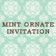 Mint Ornate Wedding Invitation - GraphicRiver Item for Sale