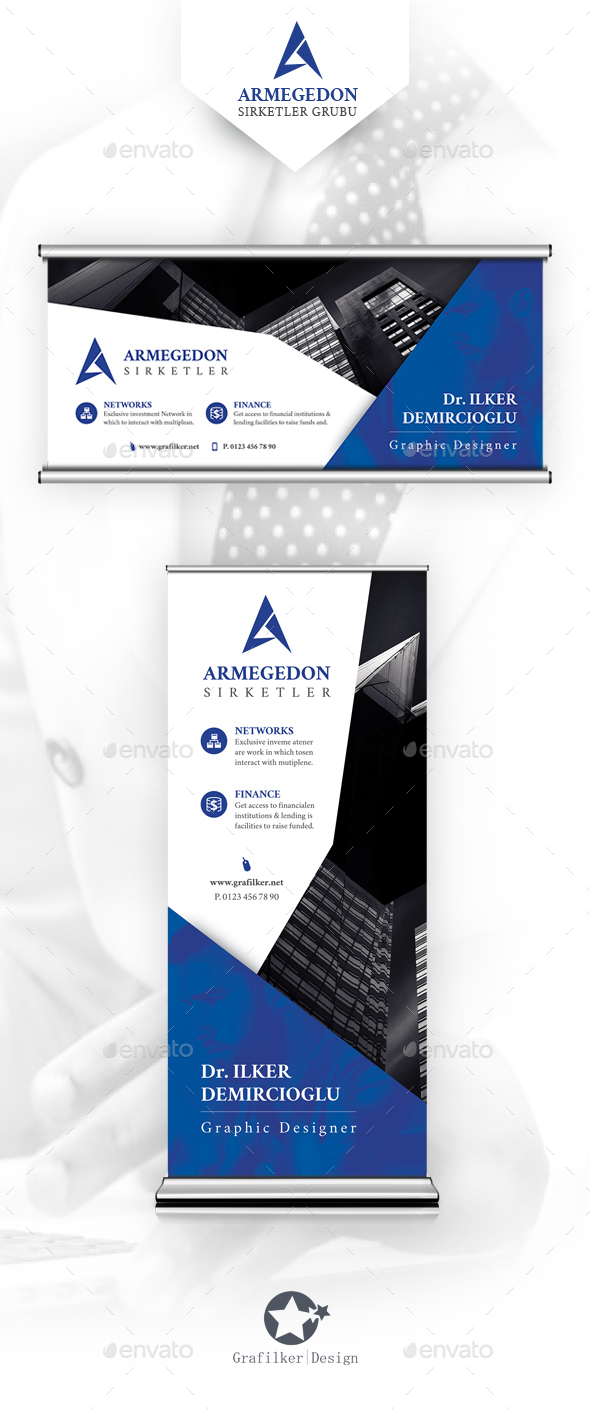 Corporate Billboard & Roll-Up Templates - Signage Print Templates