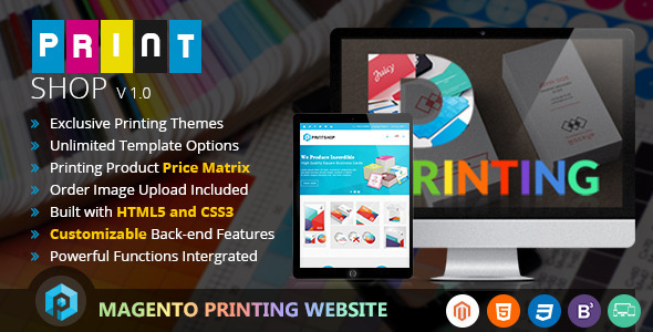 Printshop – Responsive Magento Printing Theme