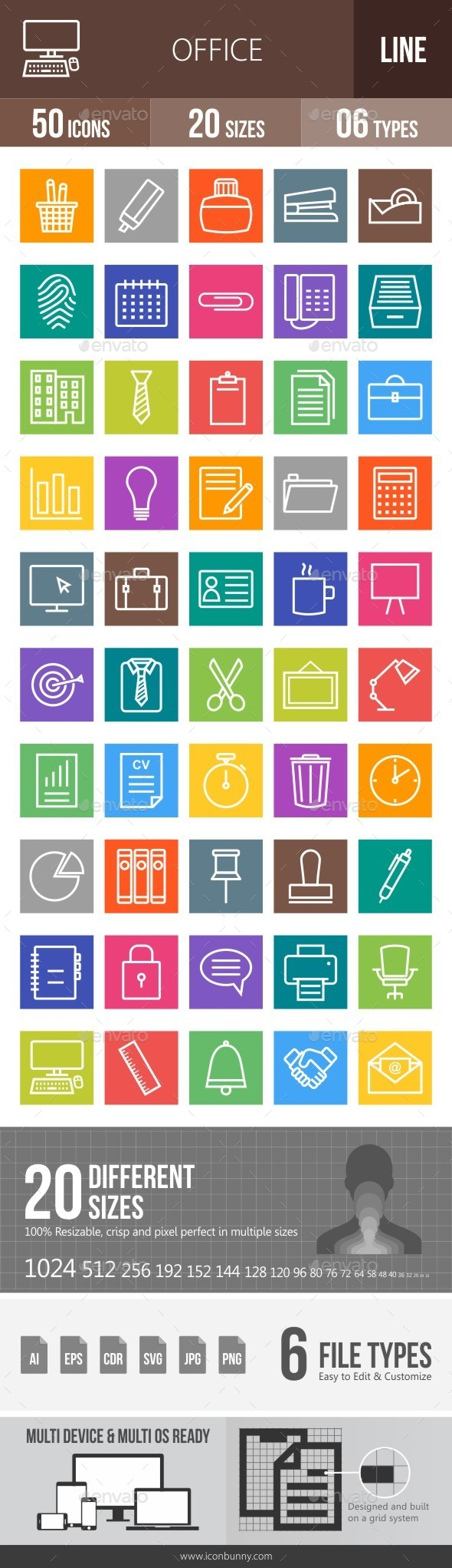 Office Line Multicolor Icons - Icons