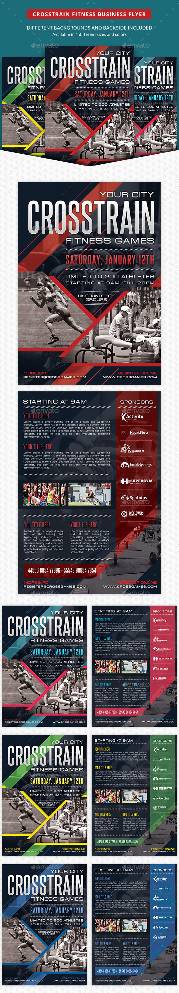 Crosstrain Fitness Gym Promotion Flyer - Sports Events