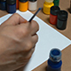 Man Draws Ornament Brush and Paints - VideoHive Item for Sale