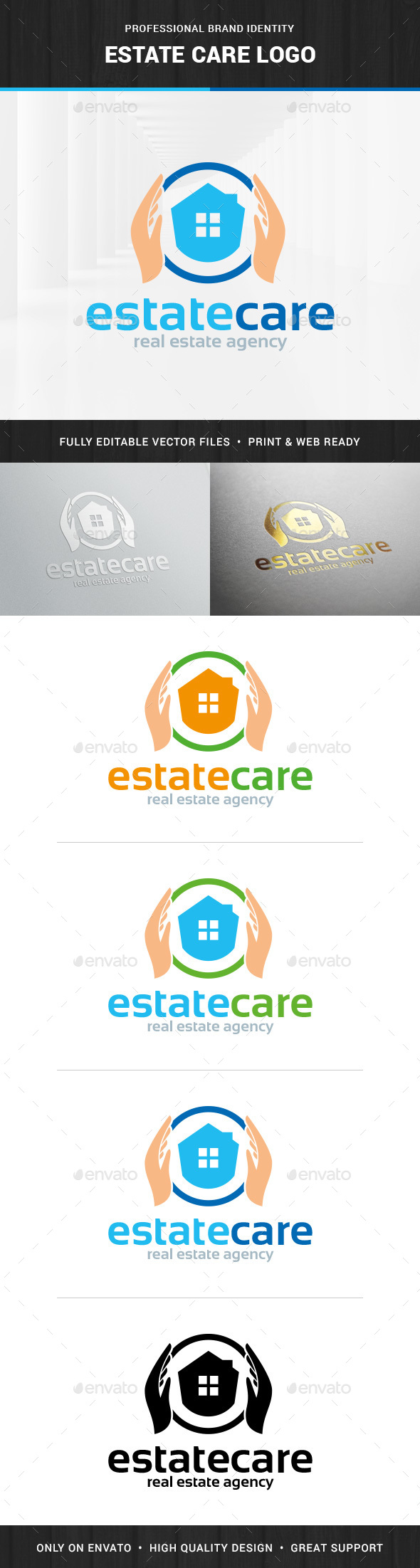 Estate Care Logo Template - Buildings Logo Templates
