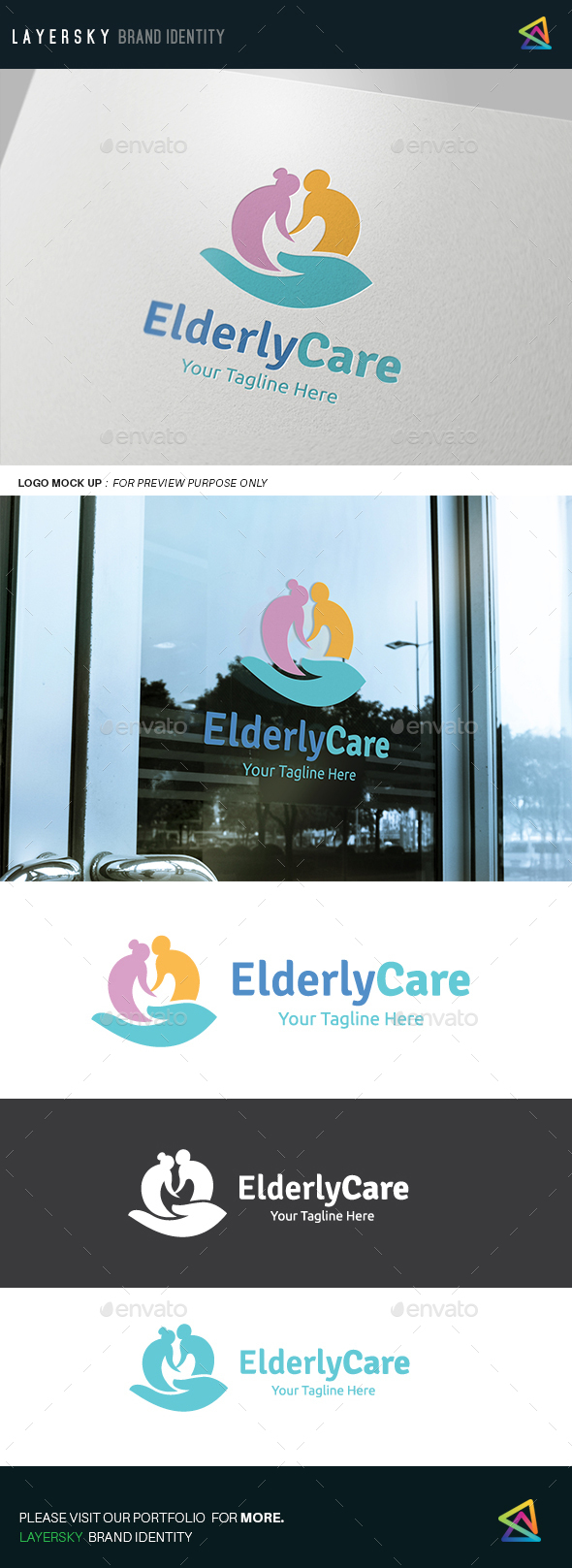 Elderly Care Logo - Humans Logo Templates