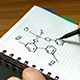 Man Draws a Chemical Formula - VideoHive Item for Sale