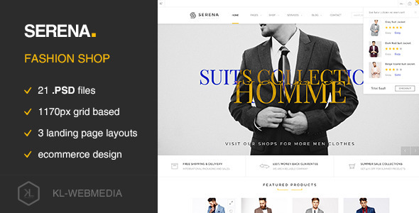 Serena – Fashion eCommerce PSD Template
