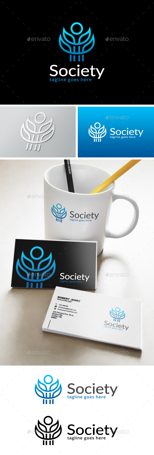 Society Logo - Humans Logo Templates