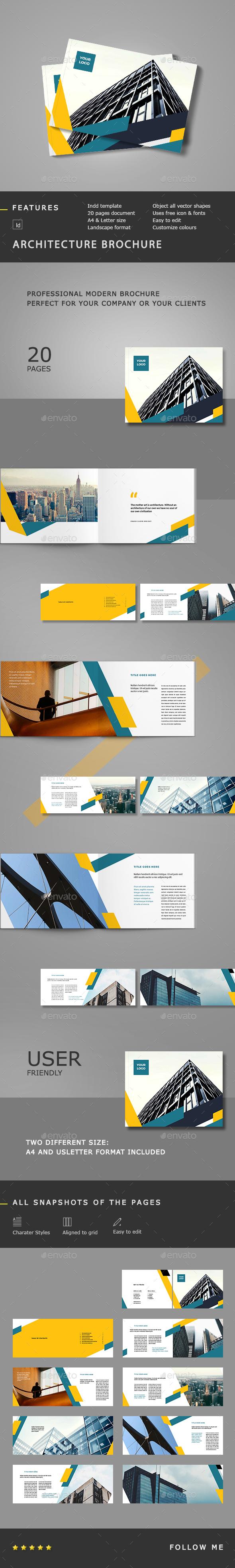 Architecture Landscape Brochure - Brochures Print Templates