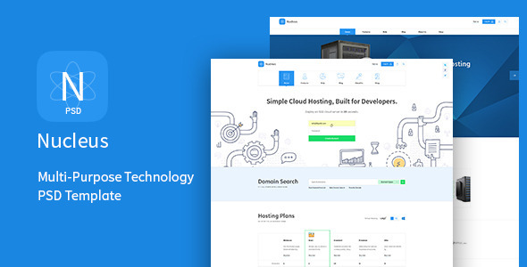 Nucleus - Multi-Purpose Technology PSD Template - Technology PSD Templates