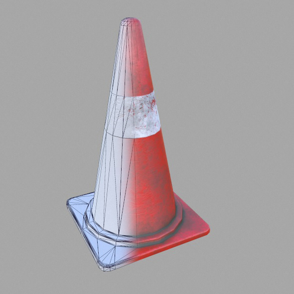 Low Poly Game Ready Street Cone - 3DOcean Item for Sale