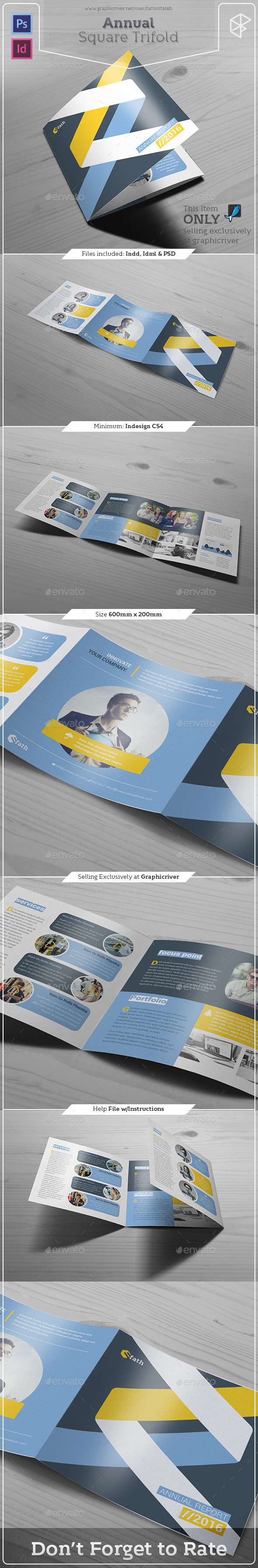 Annual Square Trifold - Informational Brochures