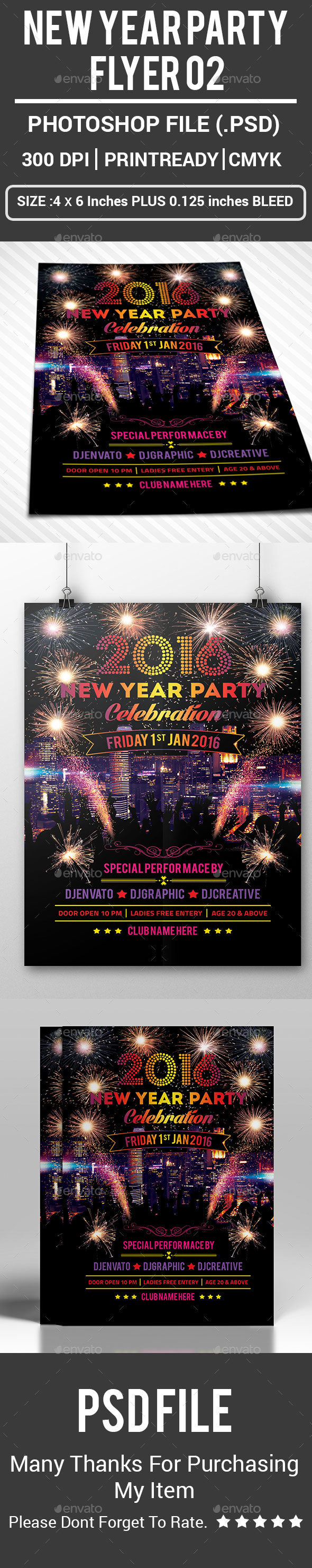 New Year Party Flyer 02 - Events Flyers