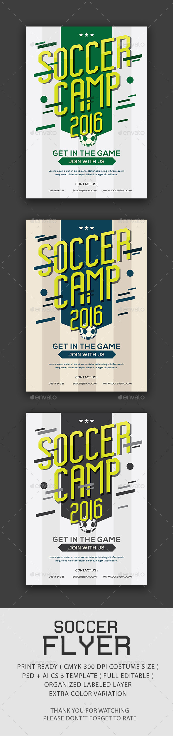 Soccer Camp Flyer - Sports Events