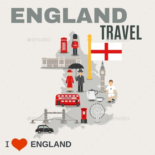 England Culture For Travelers Poster - Travel Conceptual