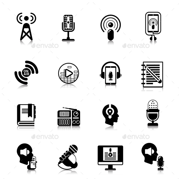 Podcast Black Icons Channel Concept - Icons