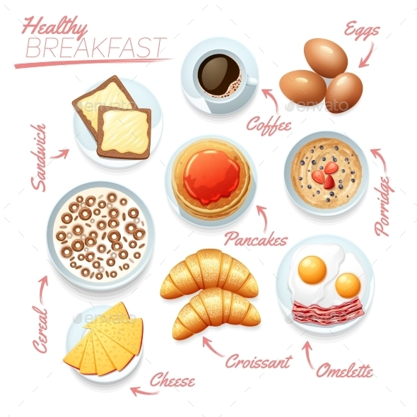 Healthy Breakfast Poster - Backgrounds Decorative