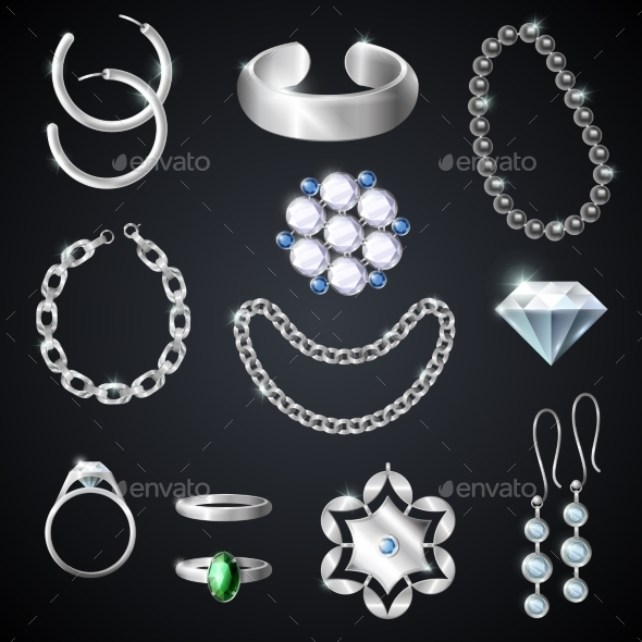 Jewelry Silver Set - Retail Commercial / Shopping