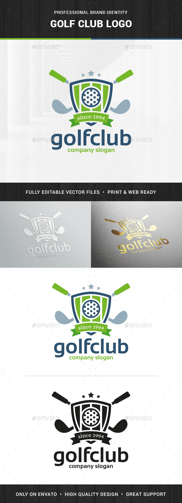Golf Club Logo Template - Crests Logo Templates
