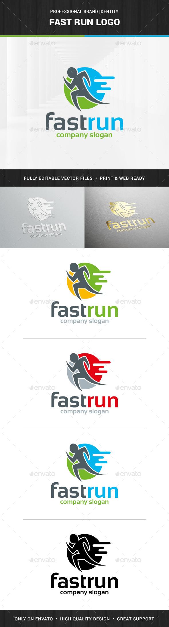 Fast Run Logo Template - Humans Logo Templates