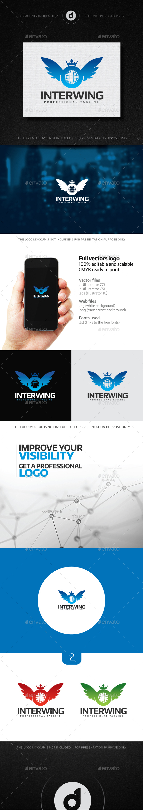 Interwing Logo - Crests Logo Templates