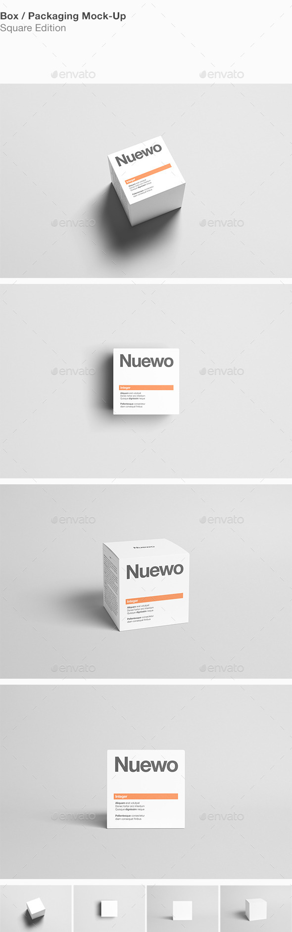Box / Packaging Mock-Up - Square - Miscellaneous Packaging